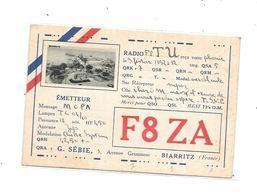 64  - Carte QSL  De BIARRITZ (1932) - Radio Amateur