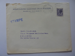 """Busta Viaggiata Pubblicitaria """"ASSOCIAZIONE NAZIONALE FONDERIE Milano"""" 1966 - 6. 1946-.. Repubblica"""