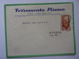 "Busta Viaggiata Pubblicitaria ""FERRAMENTA PISANA Pisa"" 1953 - 1946-60: Storia Postale"