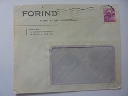 """Busta Viaggiata Pubblicitaria """"FORIND Forniture Industriali MILANO"""" 1963 - 6. 1946-.. Repubblica"""
