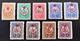 SURCHARGES 1916 - TIMBRES-POSTE 1909/11 - NEUFS * - YT 397/405 - RARES EN NEUFS ET SERIE COMPLETE !! - 1858-1921 Ottoman Empire