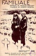 "SUPERBE PARTITION "" FAMILIALE "" - 1937 - PREVERT / KOSMA / MAX LINGNER SUPERBE ILLUSTRATION - EXCELLENT ETAT. - Partitions Musicales Anciennes"