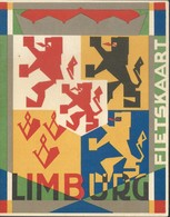 Double Carte Publicitaire LIMBURG  + Carte Géographique + Vélo Burgers Devener - Venlo