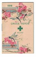 CALENDARIETTO ALMANACCO  1916  CROCE VERDE MILANO - Calendriers