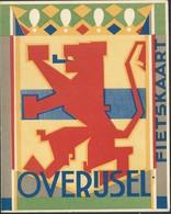 Double Carte Publicitaire Overijssel + Carte Géographique + Vélo Burgers Devener - Zwolle