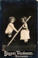 Early Advertisement Card,  Playing With Ladder, Bolgers Theehandel, Bolsward, Real Photo - Reclame