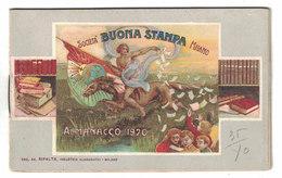 CALENDARIETTO ALMANACCO  1920  SOCIETA' BUONA STAMPA MILANO - Calendari