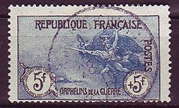 France Ob N°  155 - 5F +5F - Noir Et Bleu - Usados