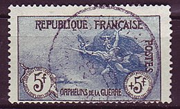 France Ob N°  155 - 5F +5F - Noir Et Bleu - France