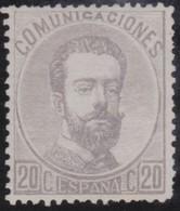 Spain        .     Yvert  .    121      .      *    .            Ongebruikt  .     /   .    Mint-hinged - 1872-73 Koninkrijk: Amadeo I