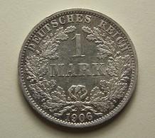 Germany 1 Mark 1906 A Silver - [ 2] 1871-1918: Deutsches Kaiserreich