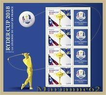 France 2018 BF La Légende Du Golf En France - RYDER CUP - MNH / Neuf !!! NEW !!! - Blocs & Feuillets