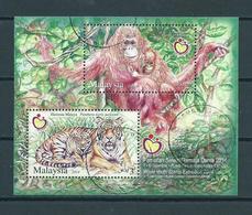 2014 Malaysia Complete M/Sheet Stamp Expo,animals,dieren,tiere Used/gebruikt/oblitere - Maleisië (1964-...)