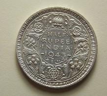 British India 1/2 Rupee 1943 Silver - Inde