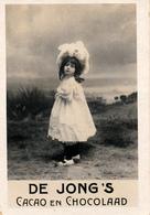 Early Advertisement Card,  Headdress, De Jong's Chocolaad, Real Photo - Reclame