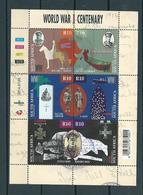 2014 South-Africa Complete M/Sheet World War Centenary Used/gebruikt/oblitere - Blokken & Velletjes
