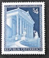 Timbre Neuf** D'autriche, N°1589 Yt, Centenaire De L'édifice Du Parlement, Style Grec Antique - 1945-.... 2ème République