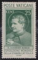 Vaticaan     .     Yvert  .     74      .      *    .            Ongebruikt  .     /   .    Mint-hinged - Vaticaanstad