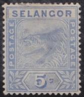 Selangor              .     Yvert  .  11     .      *    .            Ongebruikt  .     /   .    Mint-hinged - Selangor