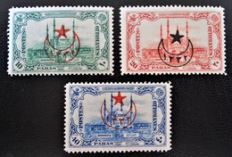 SURCHARGES 1916 - SURCHARGES TIMBRES ANDRINOPLE 1913 - NEUFS * - YT 415/17 - MI 467/69 - 1858-1921 Empire Ottoman