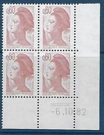"FR Coins Datés YT 2239 "" Liberté 60c. Brun-rose "" Neuf** Du 6.10.82 - 1980-1989"