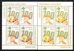 Europa Cept 2007 Romania 2 M/s ** Mnh (41896) - Europa-CEPT