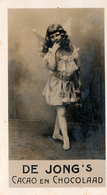 Early Advertisement Card, Angel, De Jong's Chocolaad, Real Photo - Reclame