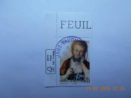 FRANCE 2019   EMILIE DU CHATELET ( 1706-17449)  Beau Cachet Rond Sur Timbre  Neuf  Coin De Feuille - France