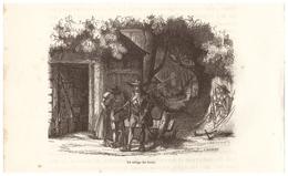 1844 - Gravure Sur Bois - Les Brouzils (Vendée) - Le Refuge Du Grala - FRANCO DE PORT - Estampes & Gravures