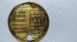 Phillips Et Pain-vermorel - Type Marine -laiton - Plaques Publicitaires