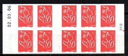 France Carnet Usage Courant Lamouche Date + RE N° 3744 C9 / C558 Neuf XX MNH - Usage Courant