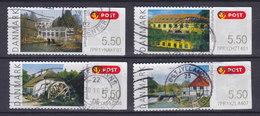 Denmark 2009 Mi. 47-50 Automatmarken ATM Frama Labels Water Mills Mühlen Moulin Set Of 4 !! - Automatenmarken (ATM/Frama)
