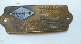 EPREUVE DES MINES 1959  SOCIETE FRANCAISE   - Laiton - Advertising (Porcelain) Signs