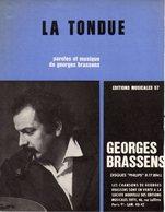 PARTITION GEORGES BRASSENS - LA TONDUE - 1965 - EXC ETAT - - Otros