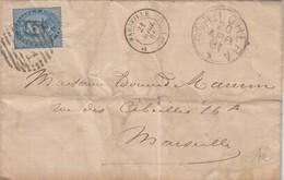 COVER. LETTERA. ITALIA. 1881 BORDIGHERA TO MARSEILLE FRANCE - Unclassified