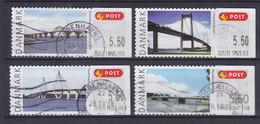 Denmark 2008 Mi. 42-45 Automatmarken Frama Labels Broer Bridges Brücken Ponts Complete Set Of 4 !! - Automatenmarken (ATM/Frama)