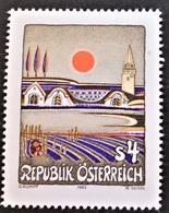 Timbre Neuf** D'autriche, N°1583 Yt, Art Moderne, Coucher De Soleil Au Burgerland Par Gottfried Kumpf - 1945-.... 2ème République