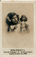 Early Advertisement Card, Girl With Doll, Boldoot - Reclame