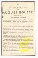 DP August Boutte ° Lichtervelde 1865 † Beselare Zonnebeke 1943 X Stephanie Samyn - Images Religieuses