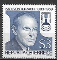 Timbre Neuf** D'autriche, N°1582 Yt, 100 Ans Du Professeur Karl Von Terzaghy - 1945-.... 2ème République