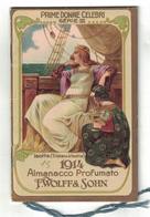 CALENDARIETTO ALMANACCO  1914  F. WOLFF & SOHN  PRIME DONNE CELEBRI Serie III - Calendari