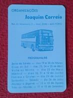 CALENDARIO DE BOLSILLO MANO PORTUGAL PORTUGUESE CALENDAR 1988 AUTOBÚS BUS AUTOCAR JOAQUIM CORREIA PORTO OPORTO VER FOTO - Calendarios