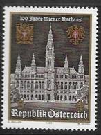 Timbre Neuf** D'autriche, N°1581 Yt, 100 Ans De L'hôtel De Ville De Vienne, Wien Rathaus - 1945-.... 2ème République
