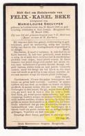 DP Felix K. Beke ° Lichtervelde 1848 † St.-Joseph Hooglede 1921 X M.L. Decuyper - Images Religieuses