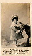 Early Advertisement Card, Me And My Donkey, Real Photo, Grootes, Westzaan - Reclame