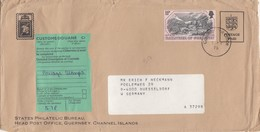 COVER. LETTRE. GUERNSEY CUSTOMS TO DUSSELDORF GERMANY - Unclassified
