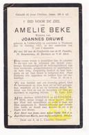 DP Amelie Beke ° Lichtervelde 1840 † Torhout 1917 X Joannes Druwé - Images Religieuses
