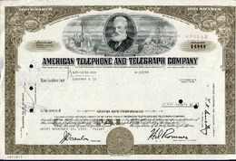 ATT - American Telephone And Telegraph; 100 Shares - Electricity & Gas