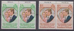 Grenadines Of St. Vincent 1973 Wedding Princess Anne 2v (pair, Margin) ** Mnh (41897) - St.-Vincent En De Grenadines