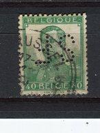 BELGIQUE - Y&T N° 114° - Albert 1er - Perfin - Perforé - 1909-34